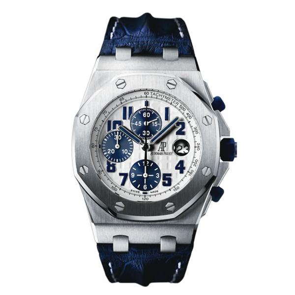 Audemars piguet royal oak offshore navy blue leather band 26170st oo ebay for Audemars piguet kinetic